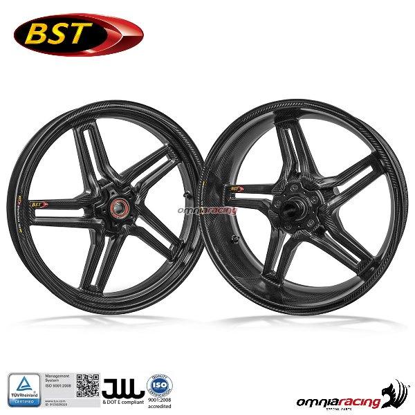 Carbon Fiber Wheels >> Pair Of Carbon Fiber Wheels Bst Rapid Tek For Honda Cbr1000rr 2004 2016
