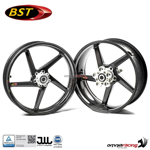 Carbon Fiber Wheels >> Pair Of Carbon Fiber Wheels Bst Black Diamond For Honda Cbr929rr