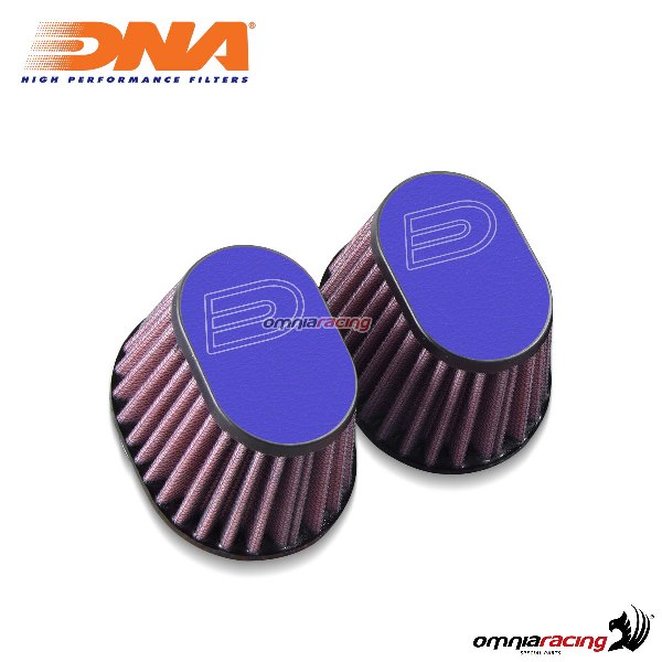 Kit filtro aria DNA air box in pelle colore blu per BMW RnineT 2014>2017