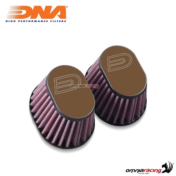 Kit filtro aria DNA air box in pelle colore marrone scuro per BMW RnineT 2014>2017