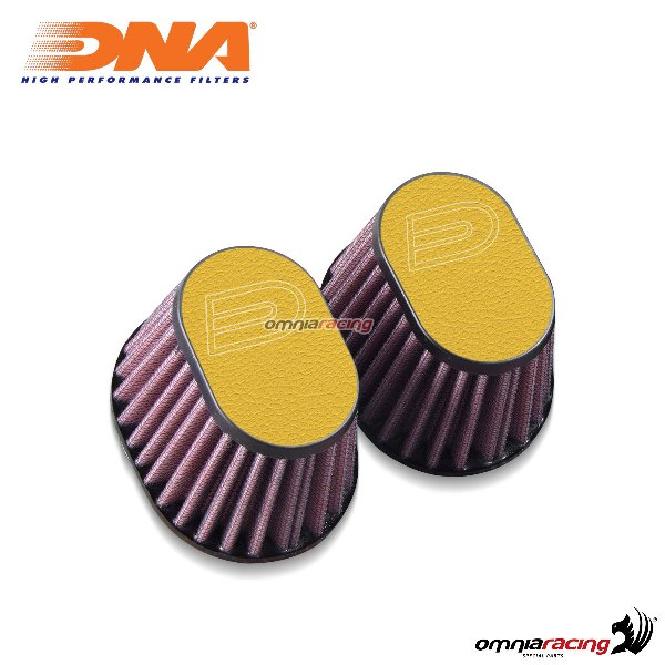 Kit filtro aria DNA air box in pelle colore giallo per BMW RnineT 2014>2017