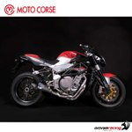 Low exhaust system titanium Motocorse G-type for Mv Agusta Brutale 920/990R/1090/R/RR