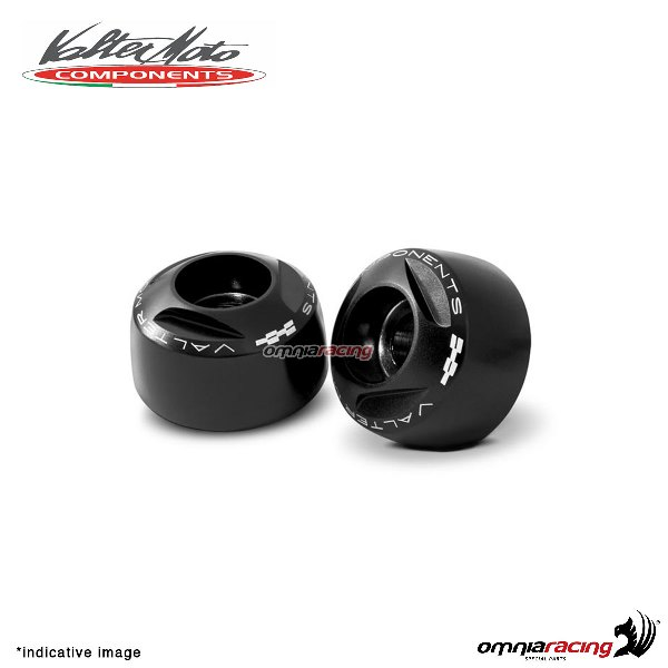 Ergal handlebar ends Valtermoto Extreme black color for Honda Hornet 600 1998>2013