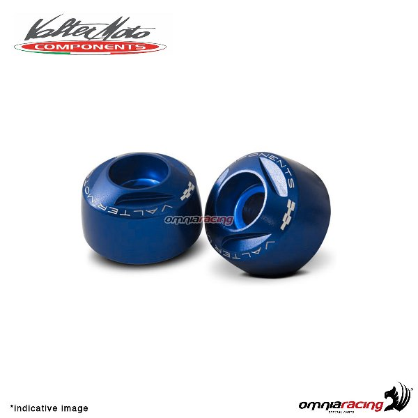 Ergal handlebar ends Valtermoto Extreme blue color for Honda Hornet 600 1998>2013