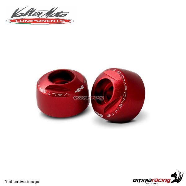 Ergal handlebar ends Valtermoto Extreme red color for Honda Hornet 600 1998>2013