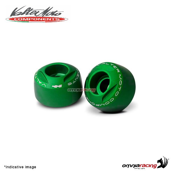Ergal handlebar ends Valtermoto Extreme green color for Honda Hornet 600 1998>2013