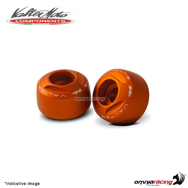 Ergal handlebar ends Valtermoto Extreme orange color for Honda Hornet 600 1998>2013