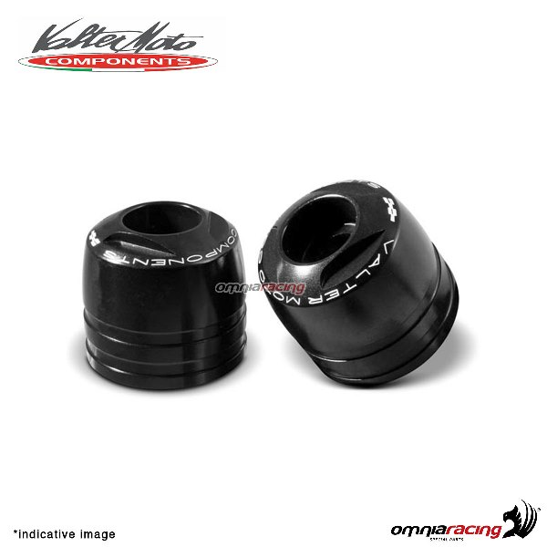 Ergal handlebar ends Valtermoto Touring black color for Honda Hornet 600 1998>2013