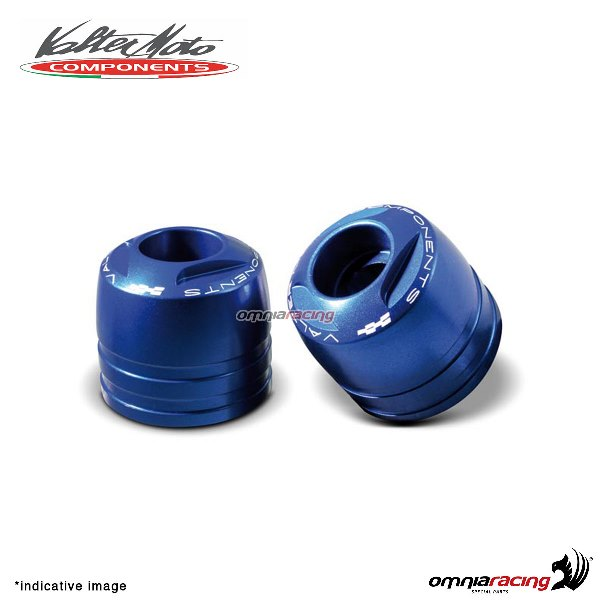 Ergal handlebar ends Valtermoto Touring blue color for Honda Hornet 600 1998>2013