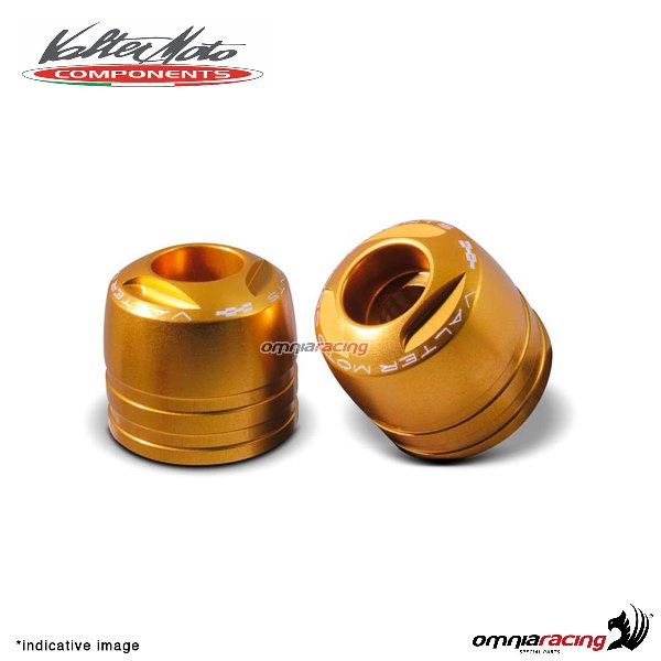 Ergal handlebar ends Valtermoto Touring gold color for Honda Hornet 600 1998>2013
