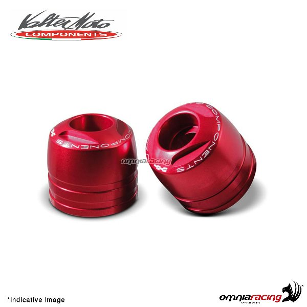Ergal handlebar ends Valtermoto Touring red color for Honda Hornet 600 1998>2013