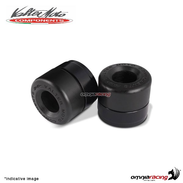 Ergal handlebar ends Valtermoto Track black color for Honda Hornet 600 1998>2013