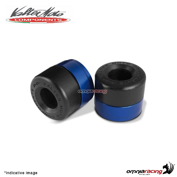 Ergal handlebar ends Valtermoto Track blue color for Honda Hornet 600 1998>2013