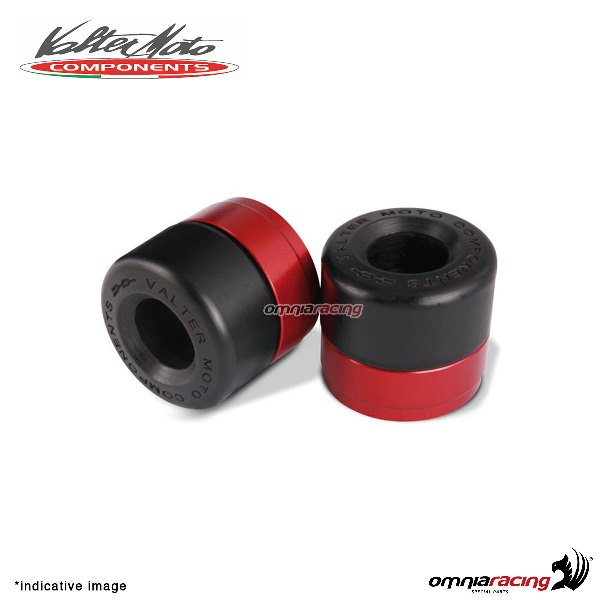 Ergal handlebar ends Valtermoto Track red color for Honda Hornet 600 1998>2013