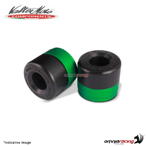 Ergal handlebar ends Valtermoto Track green color for Honda Hornet 600 1998>2013