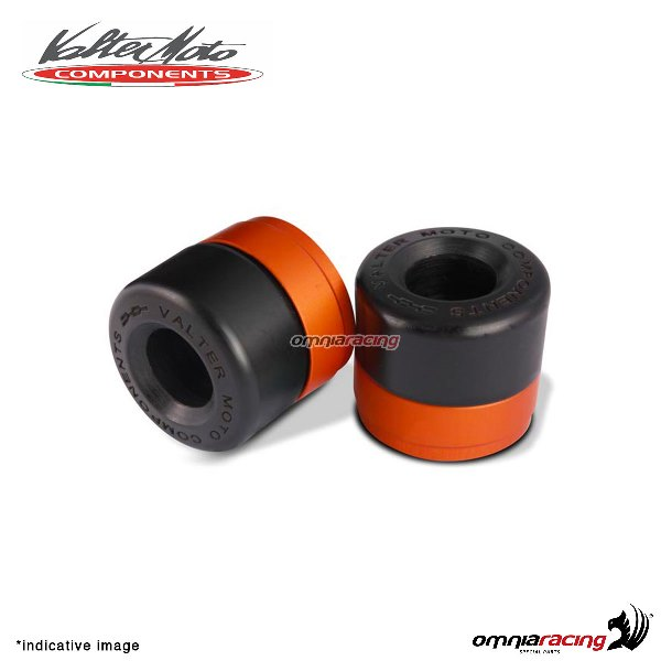 Ergal handlebar ends Valtermoto Track orange color for Honda Hornet 600 1998>2013