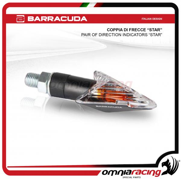 "Barracuda pair of Homologated Universal Direction indicator ""star"" Carbon look color"