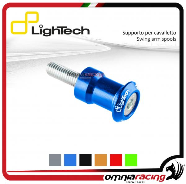 Lightech coppia supporti cavalletto moto 8mm cobalto per Suzuki / Honda / BMW / Triumph 675-13