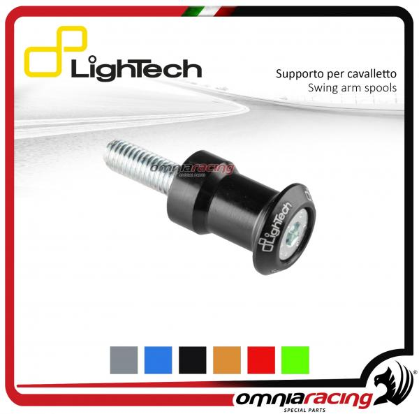 Lightech coppia supporti cavalletto moto 8mm nero per Suzuki / Honda / BMW / Triumph 675-13