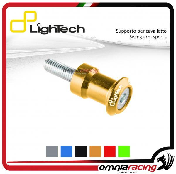 Lightech coppia supporti cavalletto moto 8mm oro per Suzuki / Honda / BMW / Triumph 675-13