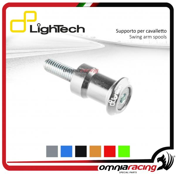 Lightech coppia supporti cavalletto moto 8mm silver per Suzuki / Honda / BMW / Triumph 675-13