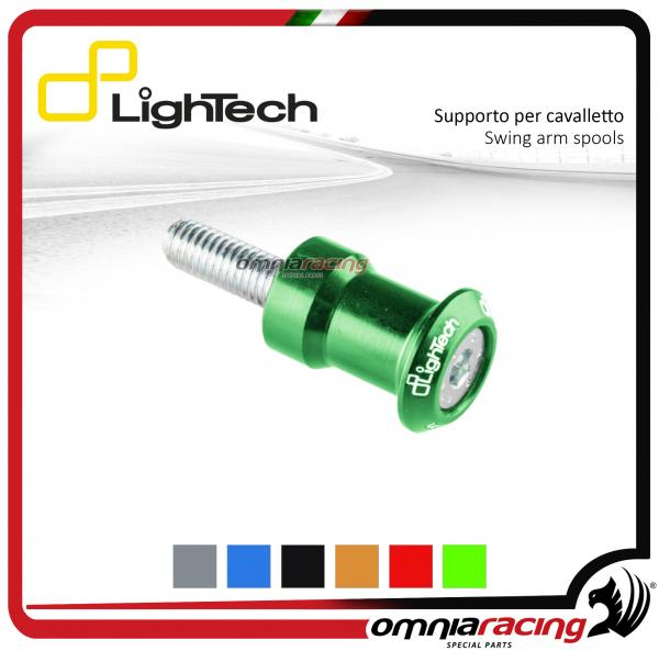Lightech coppia supporti cavalletto moto 8mm verde per Suzuki / Honda / BMW / Triumph 675-13