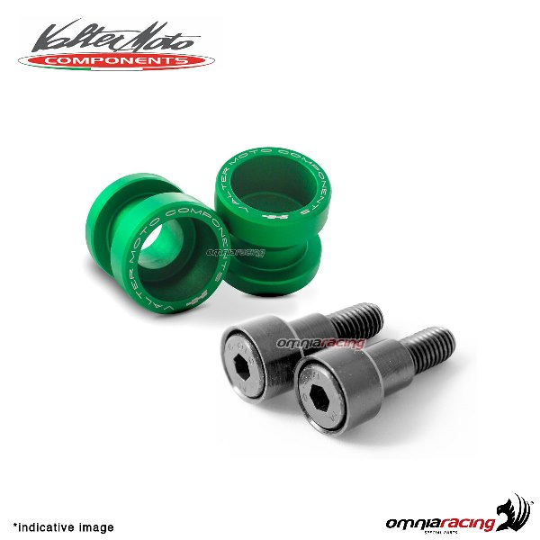 Valtermoto STREET green aluminum stands support for Honda Hornet 600 1998>2013