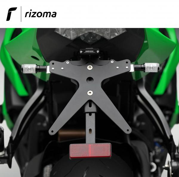 Marvelous Rizoma Adjustable License Plate Holder With Support Lights For Kawasaki Zx6R Ninja 600 2009 Andrewgaddart Wooden Chair Designs For Living Room Andrewgaddartcom