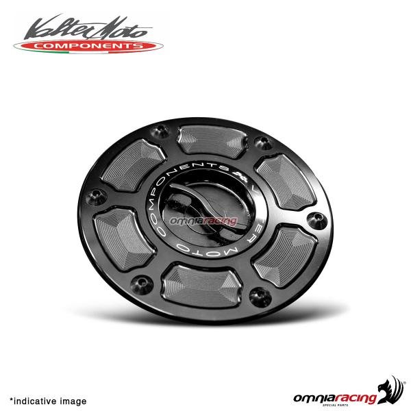 Fuel tank cap Valtermoto in black aluminum for Honda Hornet 600 2000>2013