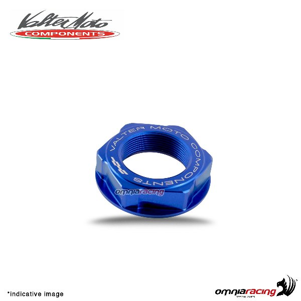 Valtermoto blue ergal steering head nut for Honda Hornet 600 1998>2013