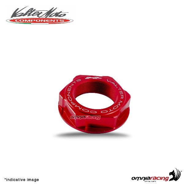 Valtermoto red ergal steering head nut for Honda Hornet 600 1998>2013