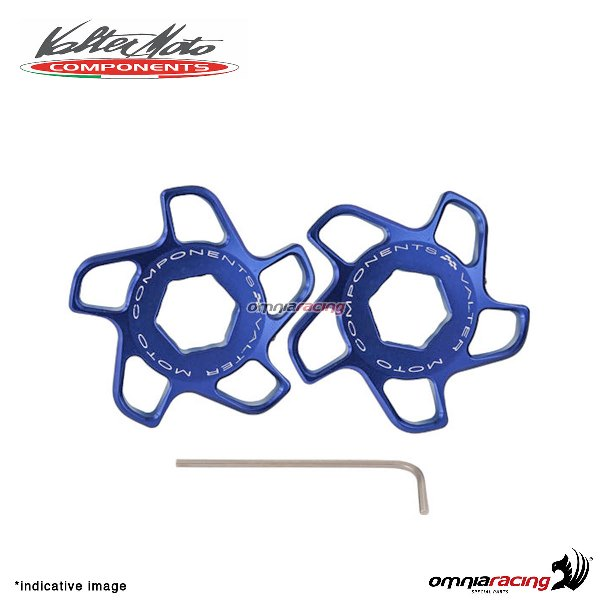Fork preload adjuster Valtermoto blue color for Honda Hornet 600 2007>2013