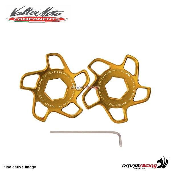 Fork preload adjuster Valtermoto gold color for Honda Hornet 600 2007>2013