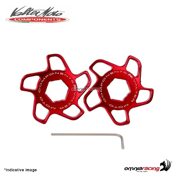 Fork preload adjuster Valtermoto red color for Honda Hornet 600 2007>2013