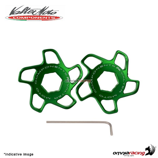 Fork preload adjuster Valtermoto green color for Honda Hornet 600 2007>2013