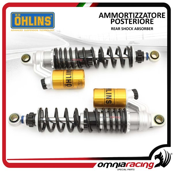 Ohlins Pair Adjustable Rear Shock Absorbers Stx36 Twin For Triumph