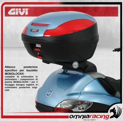 Givi Mounting Rear Rack Kit Monolock Hard Cases Piaggio X9 200 250 500 Evo 03/>08