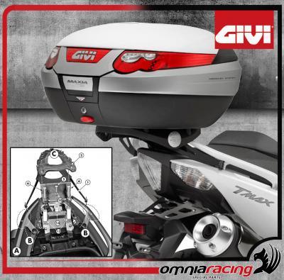 5622b39e94 Givi Kit Fissaggio - Attacco posteriore per bauletti Monokey Yamaha T Max  530 2012 12>