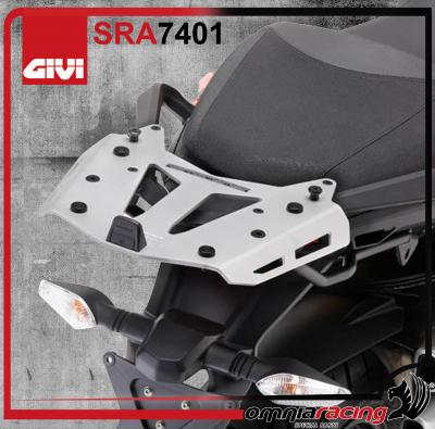 Givi Aluminium Rear Rack Monokey Top Box Ducati Multistrada 1200 10-14 with specific mounting plate