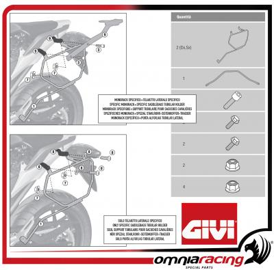 Specific Givi Easylock Soft Side Bag Holder For Honda Nc750s