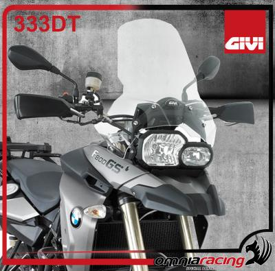 GIVI 333DT - Transparent Spoiler / Wind Screen H.44 x L.46 cm for BMW F650GS / F800GS 2008 08>13