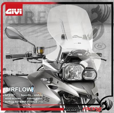GIVI Airflow AF5107 - Height Adjustable / Sliding Wind Screen for BMW F 700 GS 2013