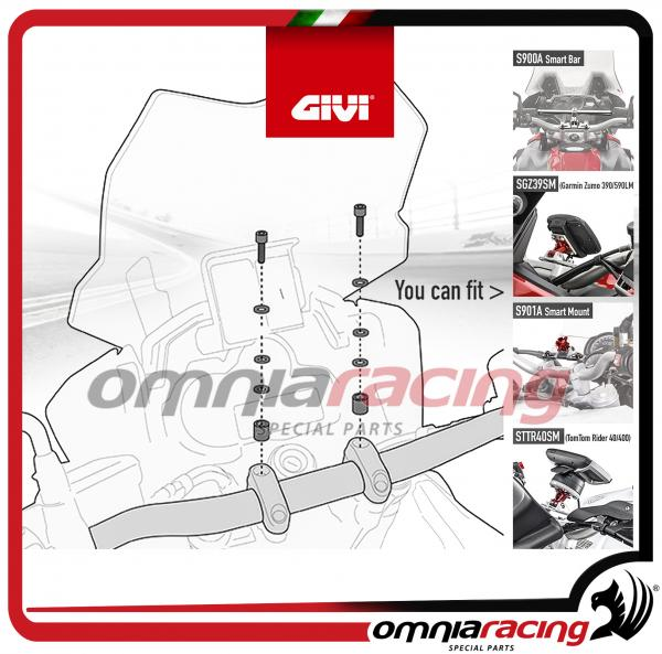 Givi 02SKIT - Kit viteria specifico per Smart Bar S900A / Smart Mount S901A