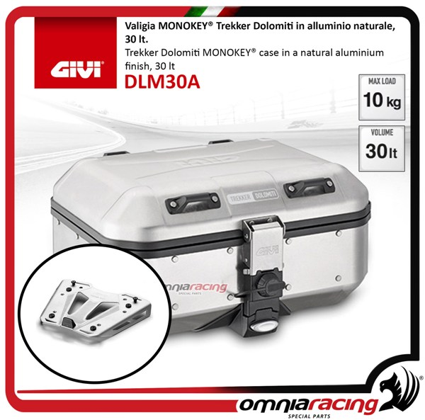 Rear top case kit Givi DLM30 DOLOMITI and plate BMW S1000XR 15>17