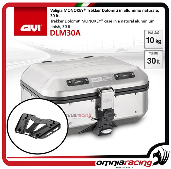 40252203d8760 Rear Top Case Kit Givi Dlm30 Dolomiti and Plate Bmw G310gs 17 18 - Dlm30  Sr5126 M8b - Motorcycle Cases
