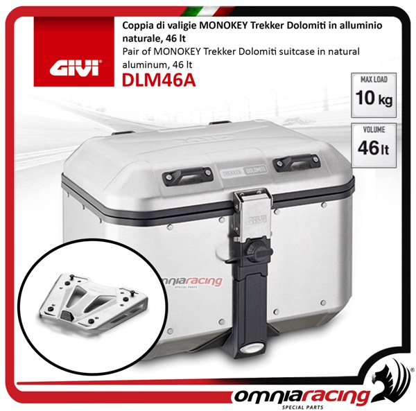 Rear top case kit Givi DLM46 DOLOMITI and plate BMW S1000XR 15>17