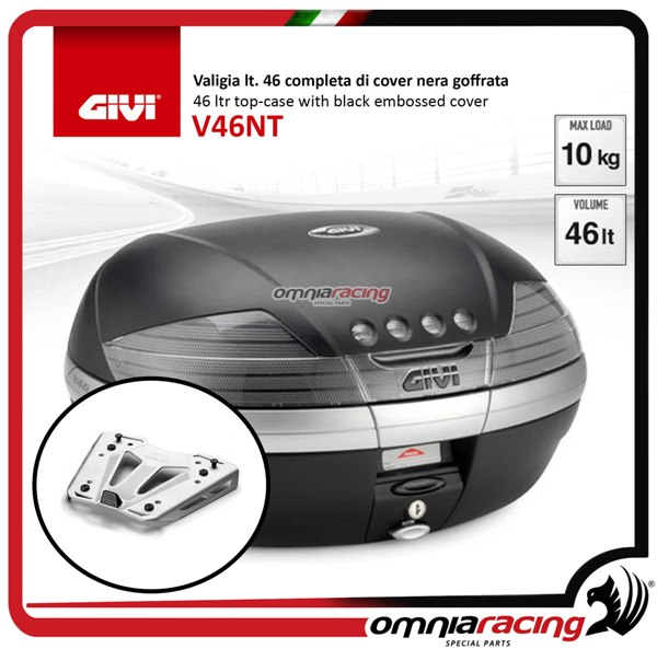 Rear top case kit Givi V46TECH and plate BMW S1000XR 15>17