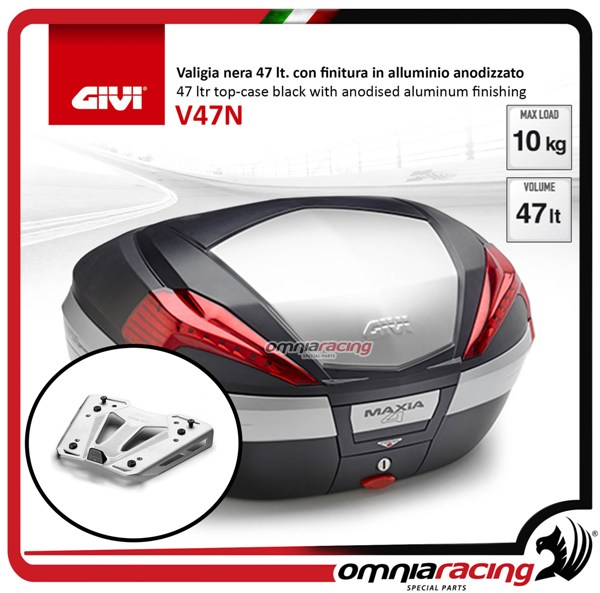 Rear top case kit Givi V47N and plate BMW S1000XR 15>17