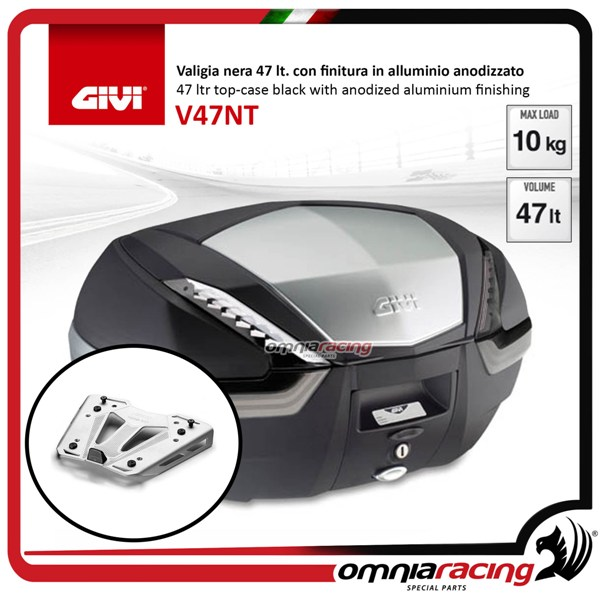 Rear top case kit Givi V47 TECH and plate BMW S1000XR 15>17