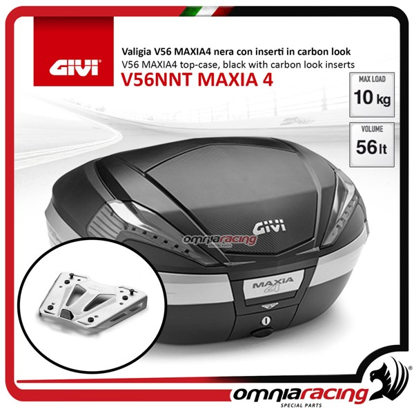 Rear top case kit Givi V56NNT MAXIA 4 and plate BMW S1000XR 15>17